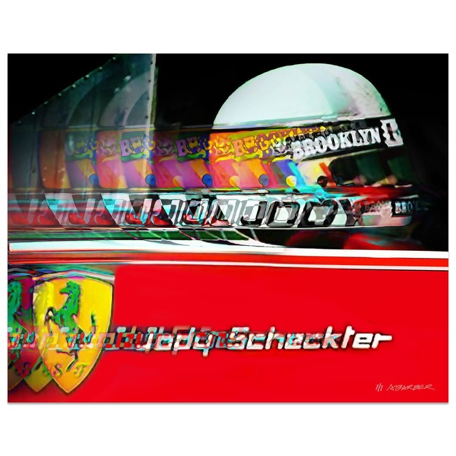 , 'Jody Scheckter - Ferrari Formula 1 | Automotive | Car,' 2019, Whyte Fine Art
