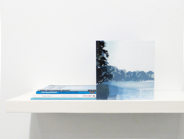 Maria Park, 'Bookend Set 8', 2014, Mixed Media, Acrylic on plexiglas cube and 4 books on shelf, Margaret Thatcher Projects