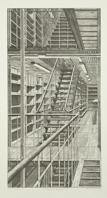 , 'Les Escaliers côté est, from Le Magasin central des imprimés,' 2013, Childs Gallery