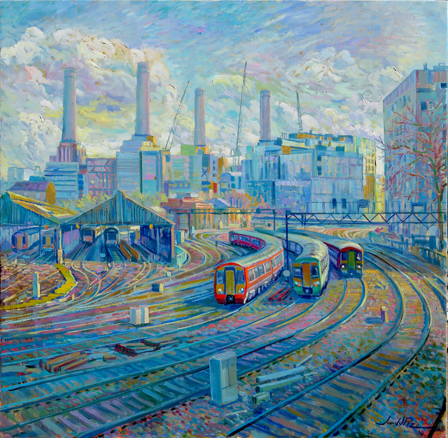 Juan del Pozo, 'Battersea train', 2020, Painting, Oil on canvas, Eclectic Gallery