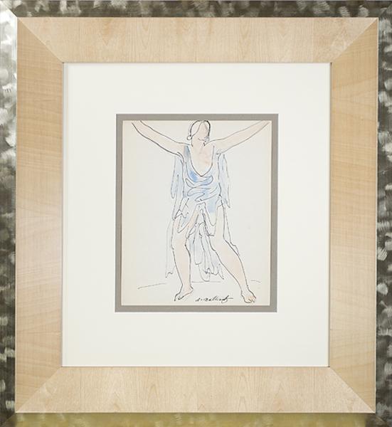 Abraham Walkowitz, 'Isadora Duncan (Blue)', ca. 1920, David Barnett Gallery
