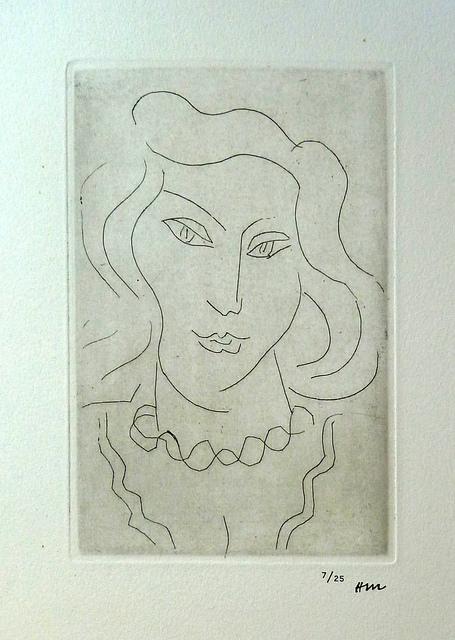 , ' Face of a Young Woman with a Twisted Necklace / Tete de Jeune Femme au Collier en Torsade,' 1975, Gilden's Art Gallery