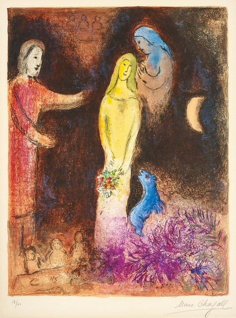 Marc Chagall, 'Chloe Dressed and Capped by Cleariste', 1961, Altmans Gallery