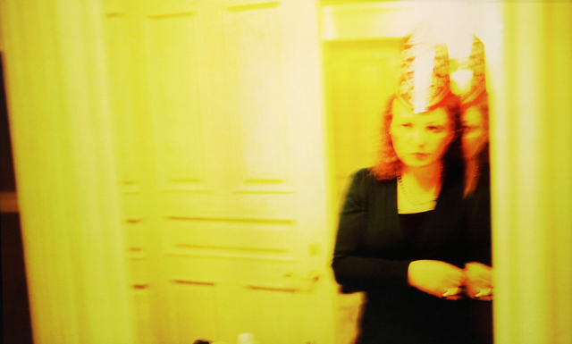 ", 'Self-portrait in party hat, New Year's Eve, ""Renaissance,"" Malibu,' 2005-2006, ClampArt"