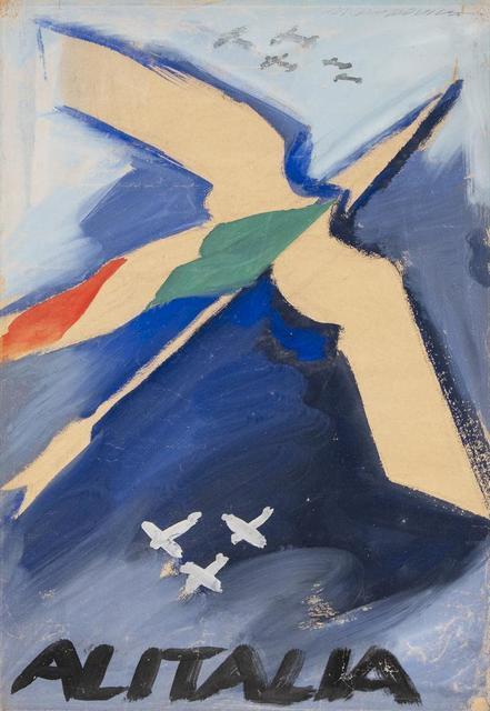 Marcello Dudovich, 'Alitalia', Painting, Tempera on paper, Itineris