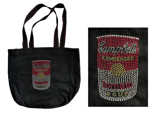 """Andy Warhol, '""""Campbell's Soup Can"""", 1970-80's, Black Beaded/Sequins/Canvas Tote Bag.', 1970-80's, VINCE fine arts/ephemera"""