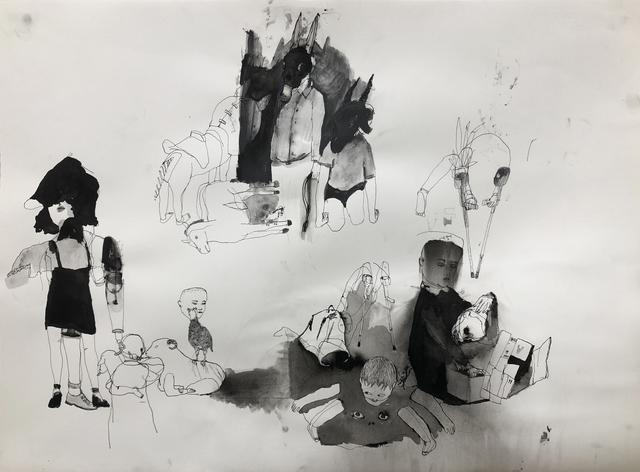Eduardo Berliner, 'Sem Título [Untitled]', 2020, Painting, Nanquim sobre papel [china ink on paper], Casa Triângulo
