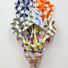 , 'Study #3 for an Endless Love (Origami Quilt),' 2012, Nina Johnson