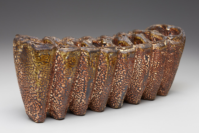 , 'Crackle Shino Eight Section Caterpillar Vase,' 2016, LACOSTE / KEANE GALLERY