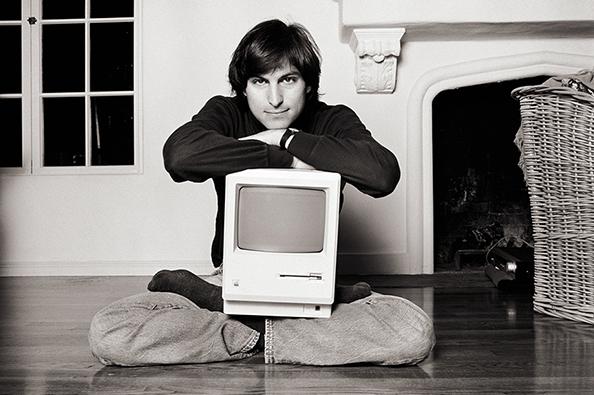 "Norman Seeff, 'Steve Jobs, ""Mac on Lap Classic""', 1984, Fahey/Klein Gallery"