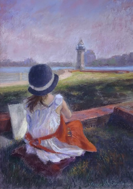 Georgette Sinclair, 'Olivia at the Lighthouse', 2019, The Galleries at Salmagundi