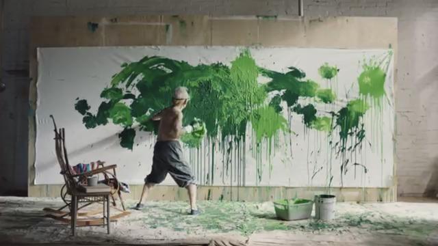 Ushio Shinohara, 'Mountain Dew - Green on White', 2018, Deborah Colton Gallery