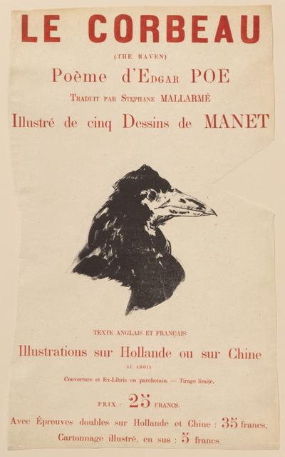 Édouard Manet, 'Raven in Profile', 1875, Clark Art Institute