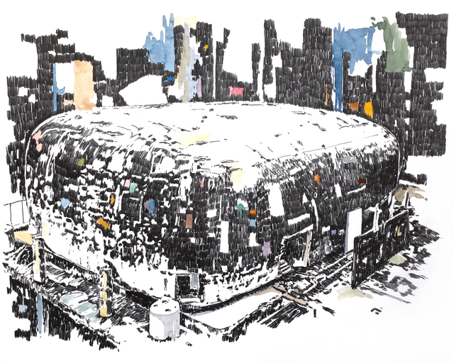 , 'Mémoire d'architecture, le songe de Beyrouth V,' 2016, Gowen Contemporary