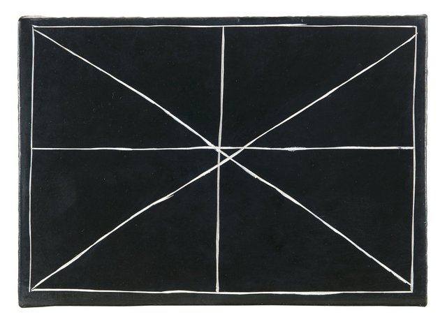 , 'Splitting a Double Cross 28.01.00,' 2003, Richard Saltoun