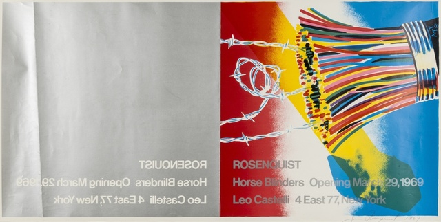 James Rosenquist, 'Poster for Leo Castelli Gallery', 1969, Print, Screenprint with offset-lithograph in colours, on wove paper, Forum Auctions