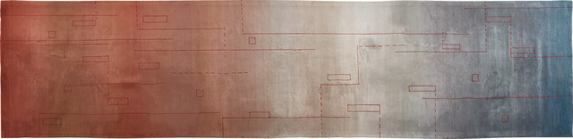 """Steven Holl, 'Unique """"Score"""" carpet from the Stretto House, Dallas, Texas', 1991, Phillips"""