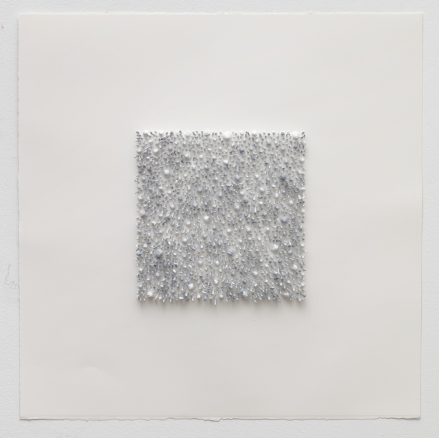 , 'Grey square 01 (Blue),' 2017, Anne Mosseri-Marlio Galerie