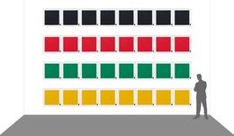 , 'Alineación de 32 monocromos y 32 signos ortográficos,' 2013, Henrique Faria Fine Art