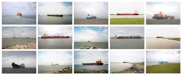 , 'Industrial Shipping Vessels, Houston Ship Channel, Texas,' 2015-2016, Museum of Contemporary Photography (MoCP)