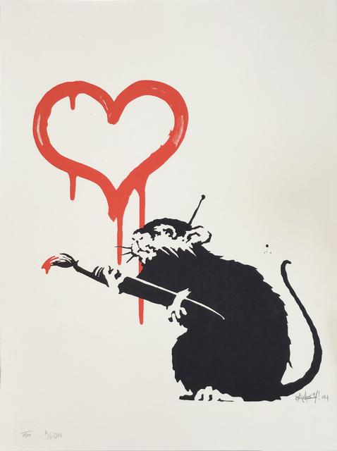 Banksy, 'Love Rat (AP DN) - Signed ', 2004, Hang-Up Gallery