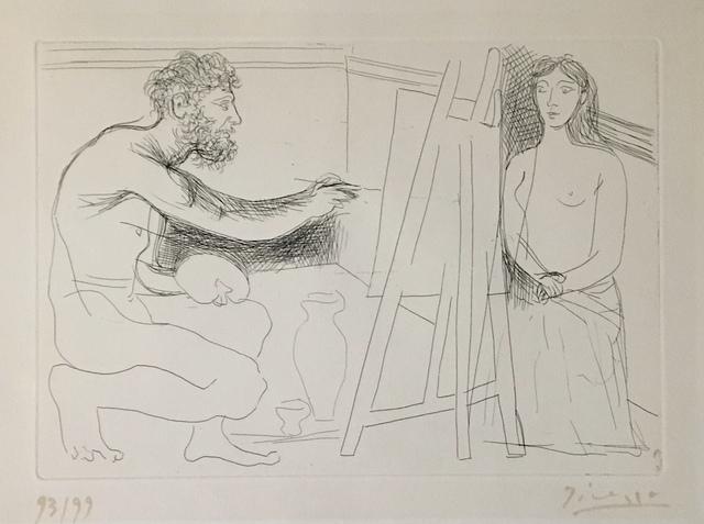 , 'Peintre devant son chevalet avec un modèle aux longs cheveux,' 1927, Galerie Céline Moine & LGFA