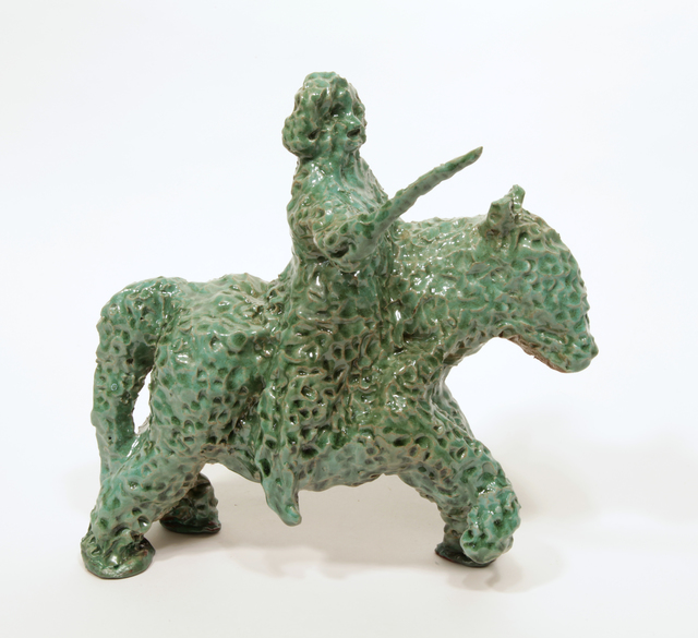 , 'George Washington on a Horse as a Topiary (small),' 2016, Burning in Water