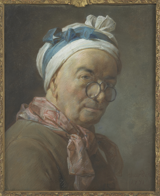 Jean-Siméon Chardin, 'Autoportrait aux besicles (Self-portrait with spectacles)', Musée du Louvre