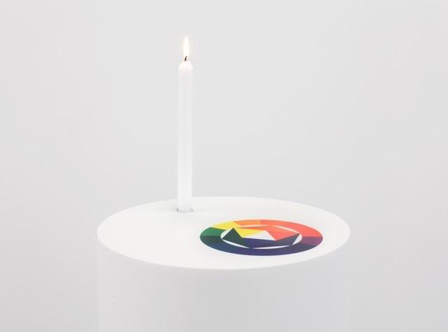 , 'Sans titre (Bougie/cercle chromatique de J. Itten),' ca. 2011, Les Arts Décoratifs