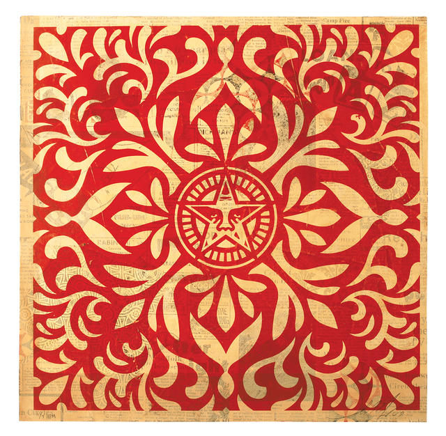 Shepard Fairey, 'Japanese Star Pattern Red HPM', 2009, Galerie Matthew Namour