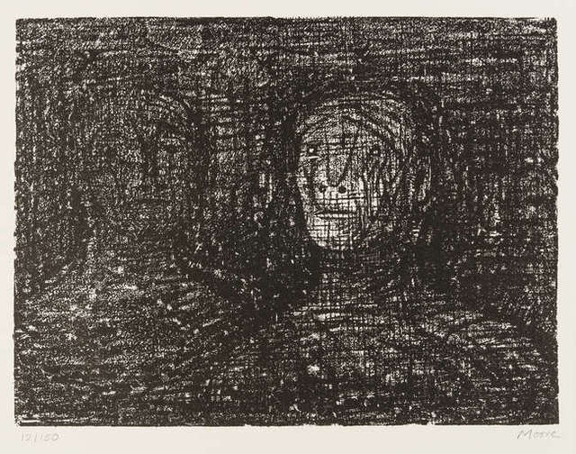 Henry Moore, 'Auden Poems, Moore Lithographs', 1973, Hidden