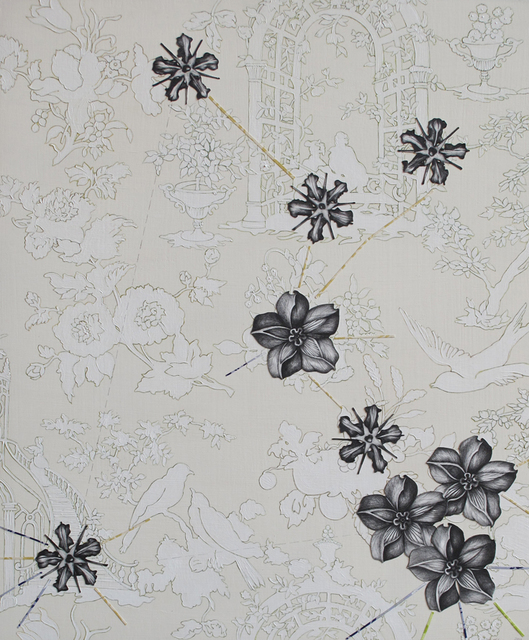 , 'White Toile with Botanicals,' 2011, K. Imperial Fine Art