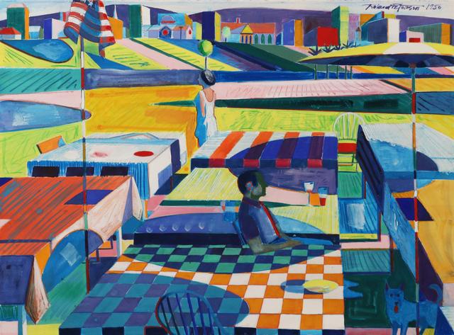 Roland Petersen, 'Park Picnic', Painting, Gouache on paper, Studio Shop Gallery