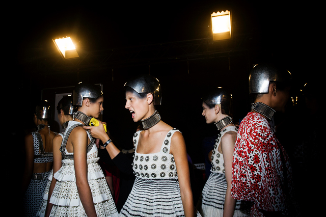 , 'Models wait backstage at the Alexander McQueen fashion show. Paris Fashion Week, Spring 2014.,' 2014, Anastasia Photo