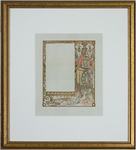 ", 'From: Ilsée, Princess of Tripoli; signed, Recto: ""Guardian of Flowers"" Verso: ""Fragrance"",' 1897, David Barnett Gallery"