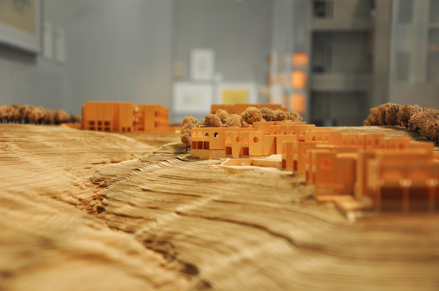 , 'Salk Institute for Biological Studies (model),' 1959-1965, Bellevue Arts Museum