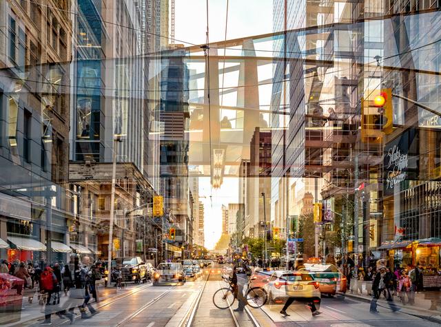 , 'Queen Street (Toronto, Canada),' 2017, Galerie de Bellefeuille