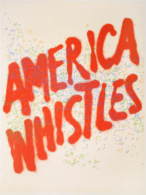 Ed Ruscha, 'Ed Ruscha, America Whistles from America: The Third Century, lithograph in colours, signed, 1975', 1975, Shapero Modern