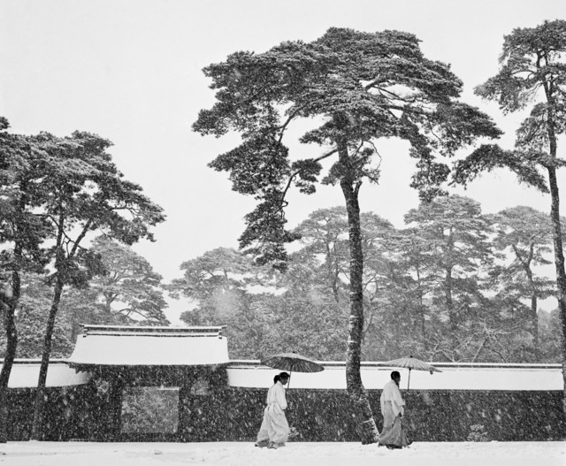 , 'JAPAN. Tokyo. Courtyard of the Meiji shrine,' 1951, Magnum Photos