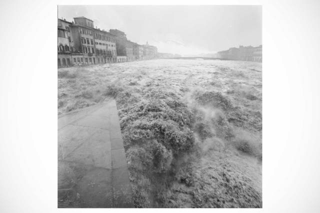 """, '""""L'Arno Straripa"""" - vintage print from the Florence Flood collection,' 1966, Casati Gallery"""