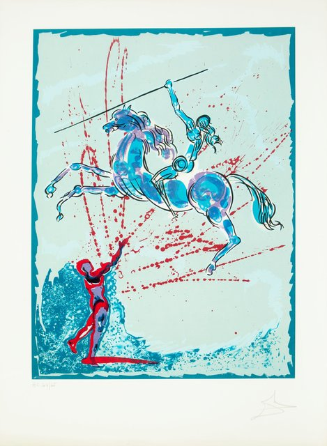 Salvador Dalí, 'Joan of Arc', 1978, Print, Lithograph in color on Arches paper, Heritage Auctions