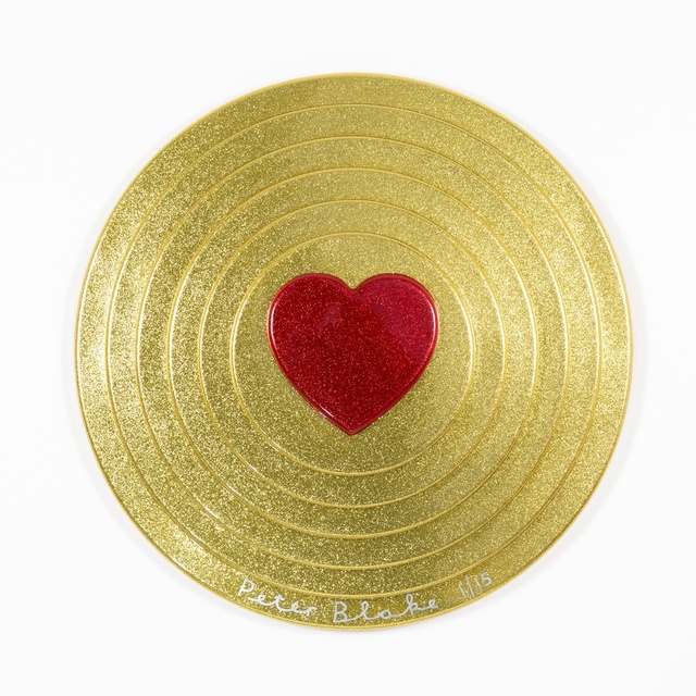 , 'Red heart on gold (metal flake),' 2017, Paul Stolper Gallery