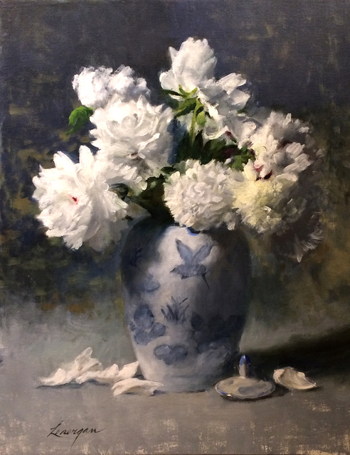 , 'Blue Porcelain with Peonies,' , Beverly McNeil Gallery