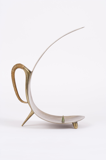 , 'Brass Candlestick with Wicker Handle,' 1950s, Patrick Parrish Gallery