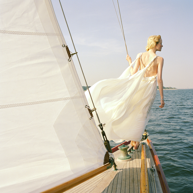 Rodney Smith, 'Edythe Standing on Edge of Sailboat, Larchmont, New York', 2011, Gilman Contemporary
