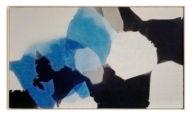 Carrie Crawford, 'Flesh to Earth 2', 2020, Painting, Indigo, logwood, oak gall, acorn, iron, and black walnut dye on linen, Uprise Art