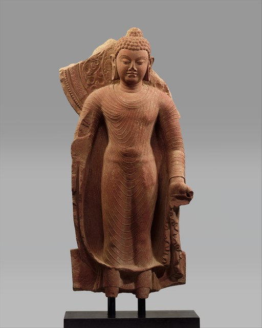 Unknown Indian, 'Standing Buddha Offering Protection', late 5th century, The Metropolitan Museum of Art