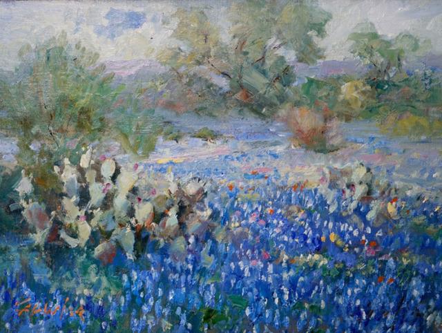, 'Blue Meadow,' 2017, Wally Workman Gallery