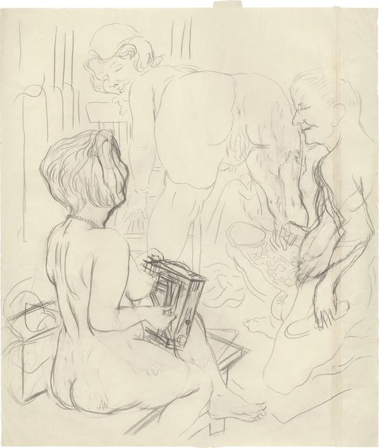 """, '""""Ménage-à-trois (Eva, Lotte and George) (Self Portrait)"""",' 1927-1928, Daniel Blau"""