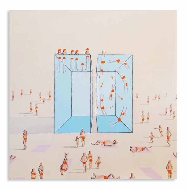 Eddie K., 'Pools R 22-23', 2020, Painting, Oil on canvas, Uprise Art